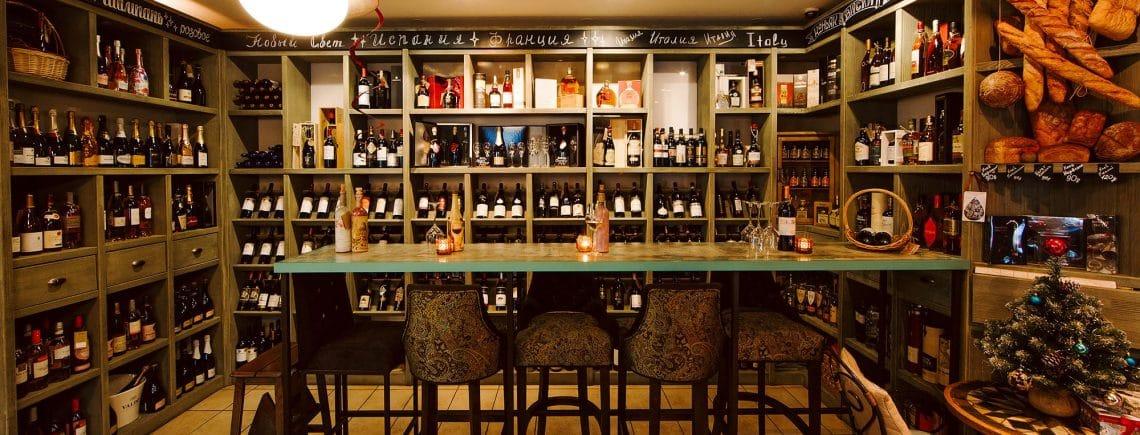 интерьер винотеки Classico
